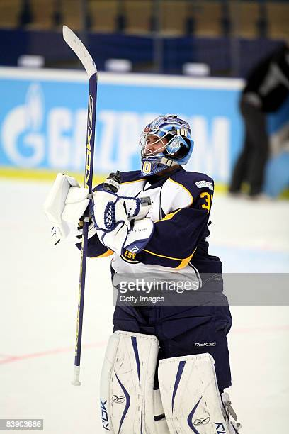 Bernd Bruckler in action during the IIHF Champions Hockey League match between HV 71 Joenkoeping and Espoo Blues on December 3, 2008 in Jonkoeping,...