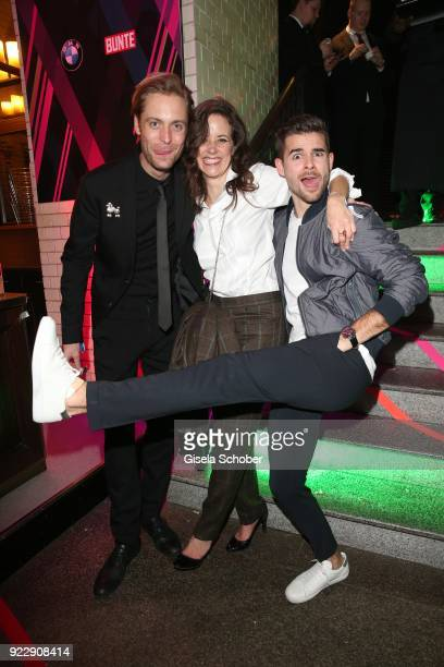 Bernd Christian Althoff Anja Knauer Lucas Reiber during the BUNTE BMW Festival Night 2018 on the occasion of the 68th Berlinale International Film...