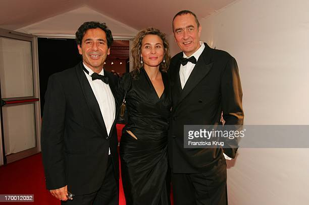Bernd Eichinger With Sat1 chief Roger Schawinski and wife Gabriella Sontheim At The After Show Party For media prize Bambi in Hamburg