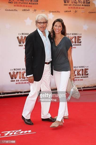 Bernd Herzsprung and daughter Sara at the Premiere Of Vicky the Viking In Mathäser cinema in Munich