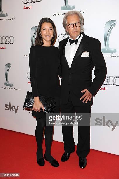 Bernd Herzsprung and his daughter Sara attend the Audi Generation Award 2012 at Hotel Bayerischer Hof on October 20 2012 in Munich Germany