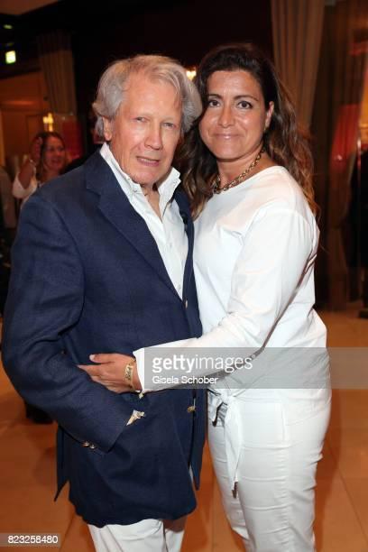 Bernd Herzsprung and his girlfriend Oezlem Schaefer during the Hotel Vier Jahreszeiten summer party 'Eclat Dore' on July 26 2017 in Munich Germany