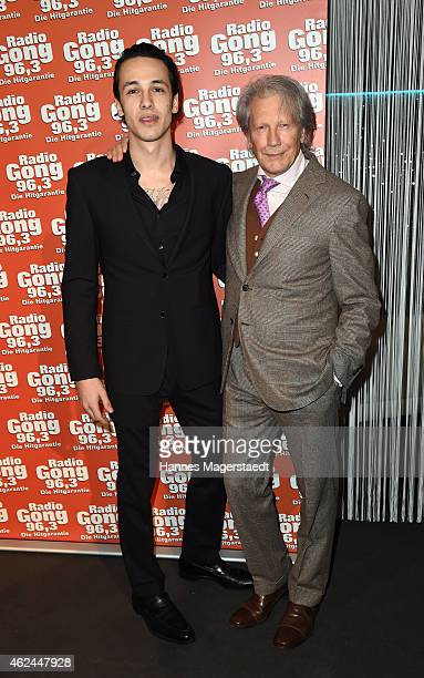 Bernd Herzsprung and his son Marvin Eckerle attend 'Radio Gong 96,3 Celebrates 30th Anniversary' at Schuhbecks Teatro on January 28, 2015 in Munich,...