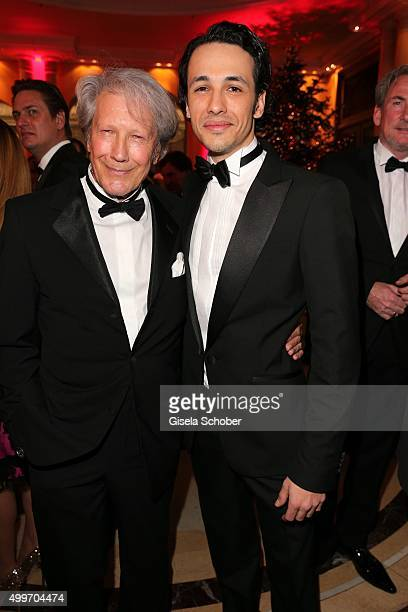 Bernd Herzsprung and his son Marvin Eckerle attend the Audi Generation Award 2015 at Hotel Bayerischer Hof on December 2, 2015 in Munich, Germany.