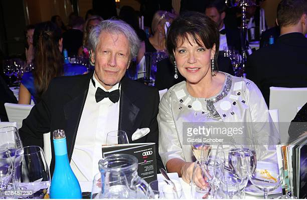 Bernd Herzsprung and Janina Hartwig during the 10th Audi Generation Award 2016 at Hotel Bayerischer Hof on December 7 2016 in Munich Germany
