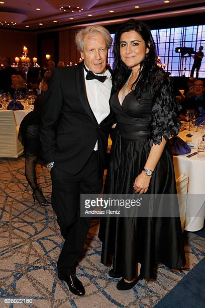 Bernd Herzsprung and partner Oezlem Schaefer attend the charity event dolphin aid gala 'Dolphin's Night' at InterContinental Hotel on November 26...