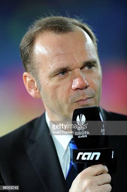 Bernd Hoffmann, Chairman of Hamburger SV during an interview before the UEFA Europa League quarter final, first leg match between Hamburger SV and...