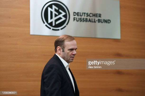 Bernd Hoffmann of Hamburg, waits for the start of a DFB Sports Court appeal of Hamburger SV and FC St. Pauli against the penalties following their...