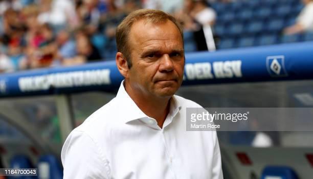 Bernd Hoffmann, president of Hamburg looks on before the Second Bundesliga match between Hamburger SV and SV Darmstadt 98 at Volksparkstadion on July...
