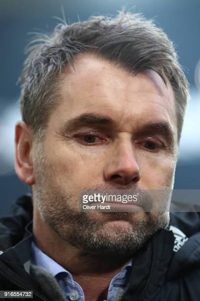 Bernd Hollerbach, coach of Hamburg, looks on before the Bundesliga match between Borussia Dortmund and Hamburger SV at Signal Iduna Park on February...