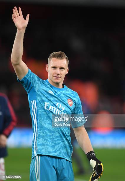 Bernd Leno of Arsenal after the Premier League match between Arsenal FC and Newcastle United at Emirates Stadium on February 16 2020 in London United...