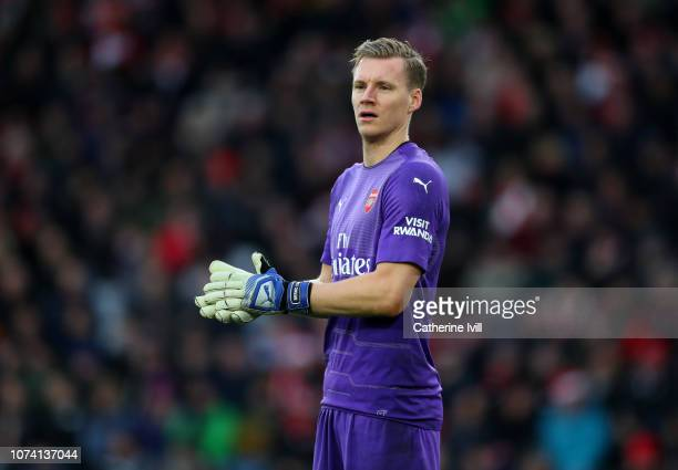 Bernd Leno of Arsenal during the Premier League match between Southampton FC and Arsenal FC at St Mary's Stadium on December 16 2018 in Southampton...