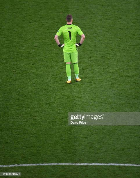Bernd Leno of Arsenal during the UEFA Europa League round of 32 second leg match between Arsenal FC and Olympiacos FC at Emirates Stadium on February...
