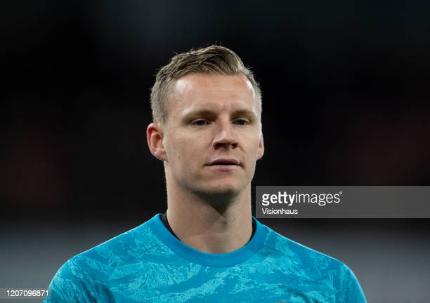 Bernd Leno of Arsenal FC during the Premier League match between Arsenal FC and Newcastle United at Emirates Stadium on February 16 2020 in London...
