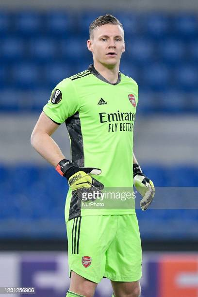 Bernd Leno of Arsenal FC looks on during the UEFA Europa League round of 32 Leg 1 match between SL Benfica and Arsenal FC at Stadio Olimpico, Rome,...