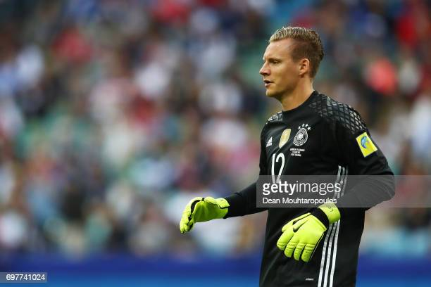 Bernd Leno of Germany looks on during the FIFA Confederations Cup Russia 2017 Group B match between Australia and Germany at Fisht Olympic Stadium on...