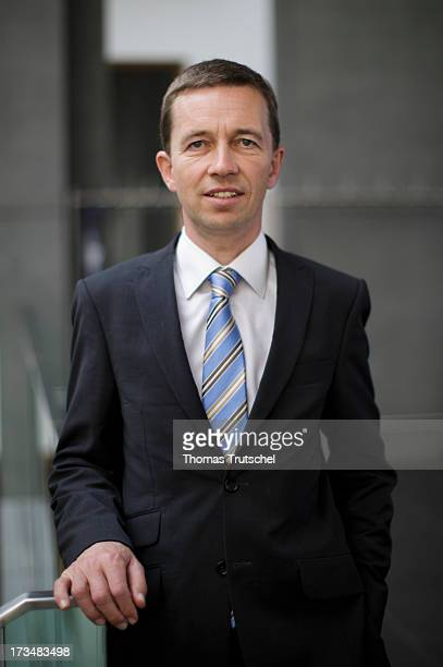 Bernd Lucke of the 'Alternative fuer Deutschland' political party poses for a photo before a press conference on July 15 2013 in Berlin Germany AfD...