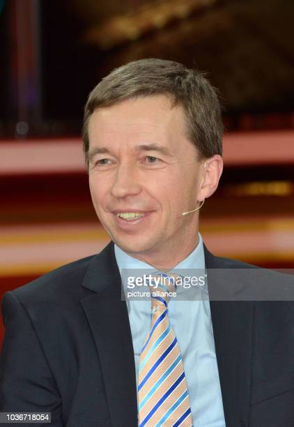 Bernd Lucke party leader of Alternative for Germany during the 'Guenther Jauch' talkshow on 'frustrated citizens and xenophobes how dangerous are the...