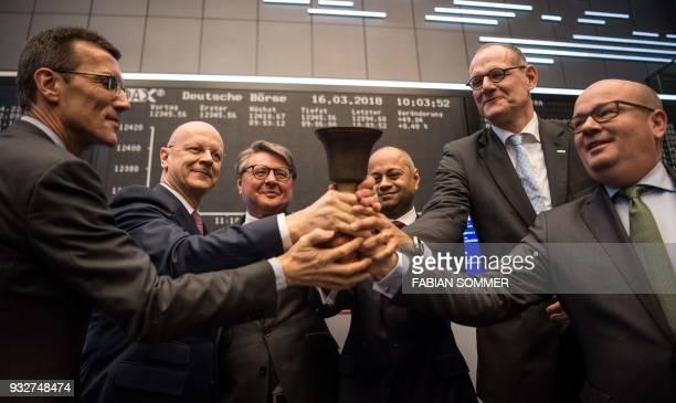 Bernd Montag chairman of German industrial giant Siemens' Healthineers unit Healthineers CFO Jochen Schmitz Siemens AG CFO Ralf Thomas Healthineers...