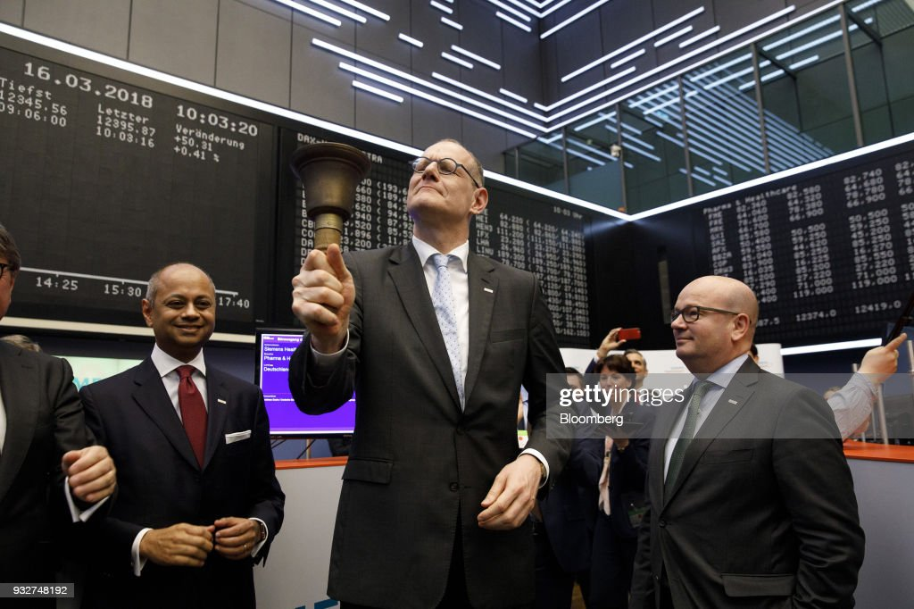 Siemens AG Healthineers Chief Executive Officer Bernd Montag At Frankfurt Stock Exchange For 4.2 Billion Euro Health Care IPO