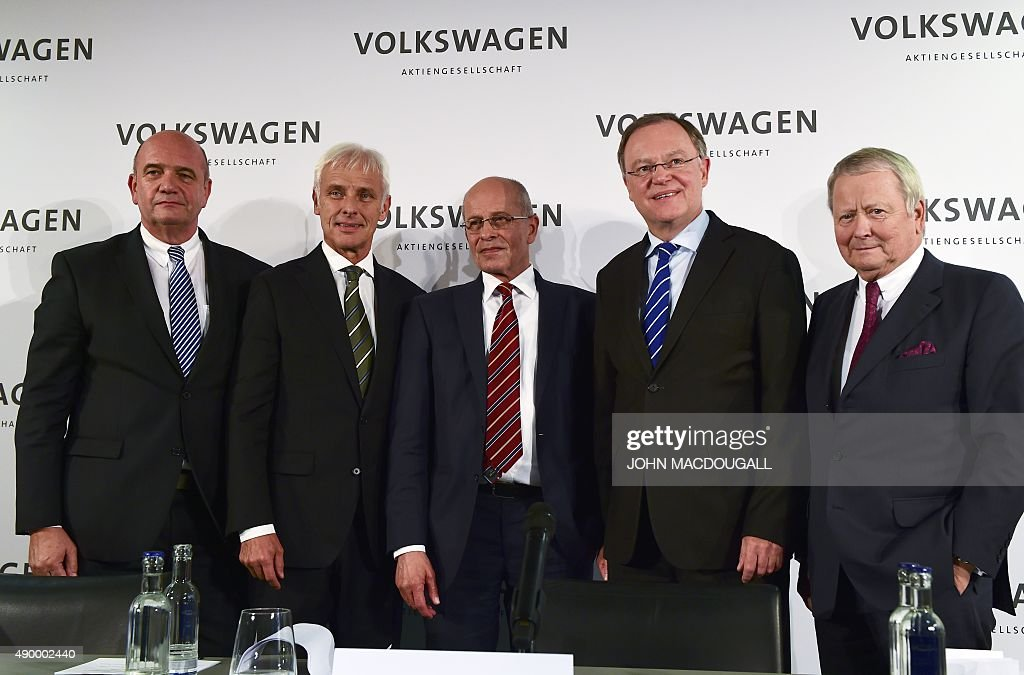 Bernd Osterloh, Supervisory board member, Matthias Mueller, newly... News Photo | Getty Images