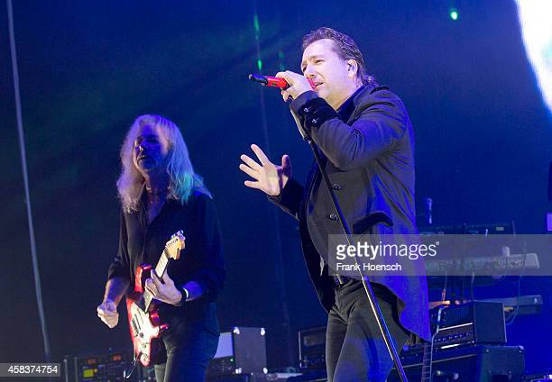 Bernd Roemer and Claudius Dreilich of the German band Karat perform live during the concert Rock Legends at the O2 World on November 1 2014 in Berlin...