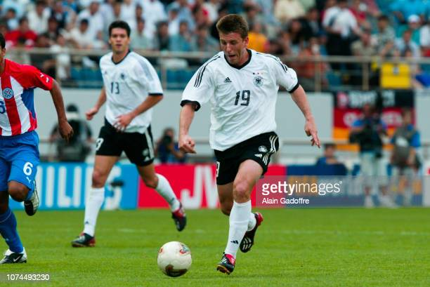 Bernd SCHNEIDER during the FIFA World Cup match between Germany and Paraguay on June 15 2002 in Jeju Stadium South Korea