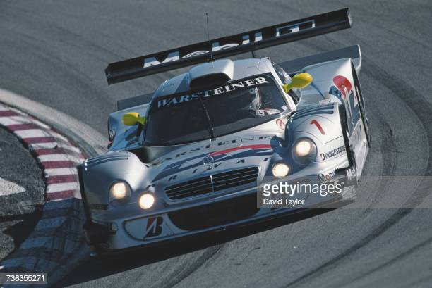 Bernd Schneider of Germany drives the AMG Mercedes MercedesBenz CLK LM during the FIA GT Championship Visa Sports Car Championships Laguna Seca 500km...