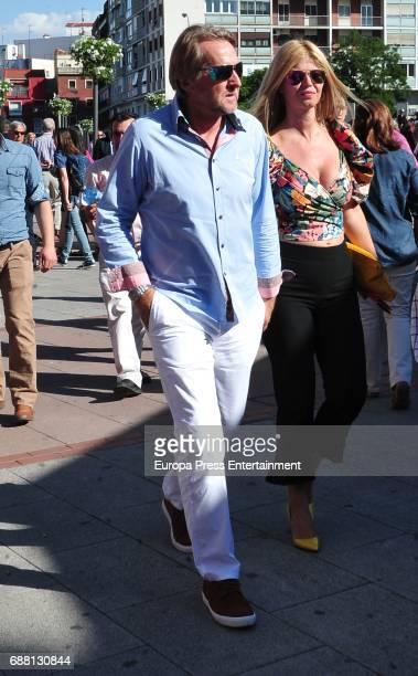 Bernd Schuster and Elena Blasco attend San Isidro Fair at Las Ventas Bullring at Las Ventas Bullring on May 24 2017 in Madrid Spain