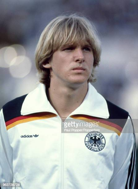 Bernd Schuster of West Germany lines up before the UEFA Euro 1980 Final between Belgium and West Germany at the Stadio Olympico on June 22 1980 in...