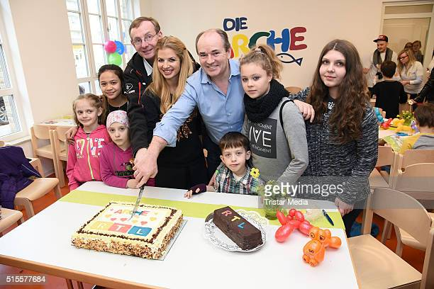 Bernd Siggelkow Susan Sideropoulos and Wolfram Kons attend the Opening of the new RTL children's house 'Arche' on March 14 2016 in Berlin Germany