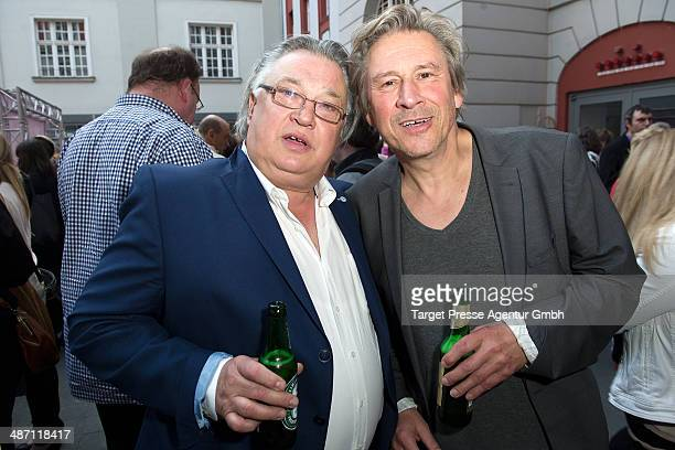 Bernd Stegemann and Hendrik Duryn attend the 'Dirty Dancing' musical premiere at Admiralspalast on April 27 2014 in Berlin Germany