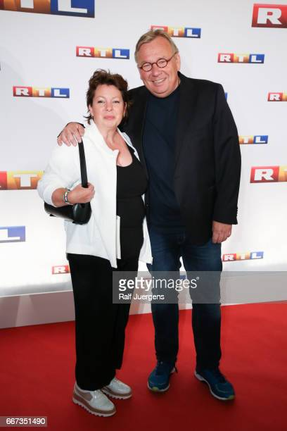 Bernd Stelter and his wife Anke attend the premiere of the film 'Gaby Koester Ein Schnupfen haette auch gereicht' at Residenz Kino on April 11 2017...