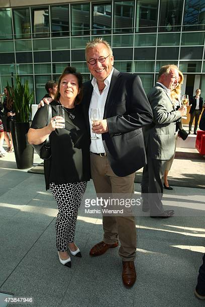 Bernd Stelter and his wife Anke during the pre golf party of the 7th Golf Charity Cup hosted by the Christoph Metzelder Foundation on May 17 2015 in...