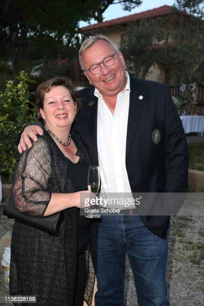 Bernd Stelter and his wife Anke Stelter during the FCR EAGLES Masters Toscana golf tournament Dinner of FalkRaudies FCR Immobilien AG at Hotel Il...