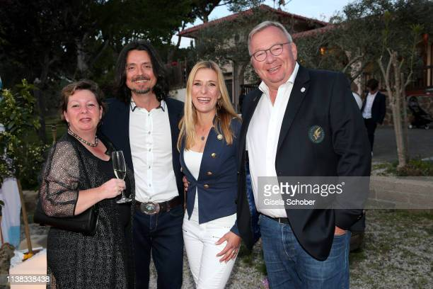 Bernd Stelter and his wife Anke Stelter Lanny Lanner and Stefanie Hertel during the FCR EAGLES Masters Toscana golf tournament Dinner of FalkRaudies...