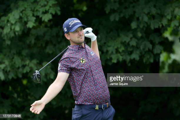Bernd Wiesberger of Austria hits a provisional from the 12th tee during the first round of the 120th U.S. Open Championship on September 17, 2020 at...
