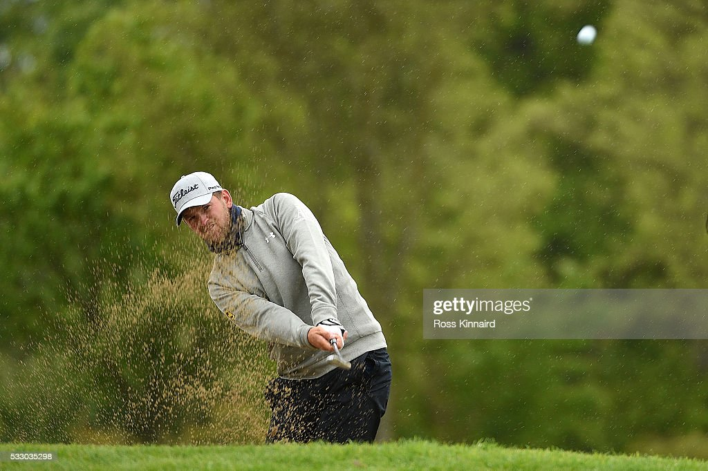 Bernd Wiesberger of Austria hits his 2nd shot on the 11th hole during the second round of the Dubai Duty Free Irish Open Hosted by the Rory Foundation at The K Club on May 20, 2016 in Straffan, Ireland.