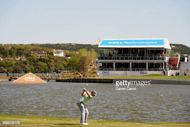 Bernd Wiesberger of Austria plays a shot on the 13th hole during the first round of the World Golf ChampionshipsDell Match Play at Austin Country...