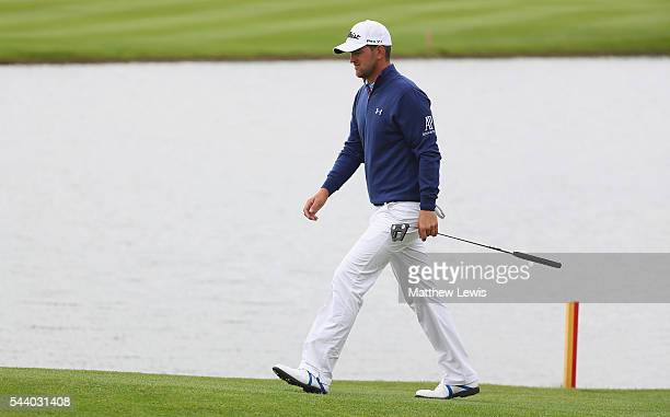 Bernd Wiesberger of Austria walks down the 15th fairway during day two of the 100th Open de France at Le Golf National on July 1 2016 in Paris France