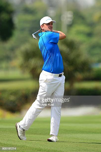 Bernd Wiesberger of Team Europe pictured during the day two of the EurAsia 2016 presented by DRBHICOM at Glenmarie GCC on January 16 2016 in Kuala...