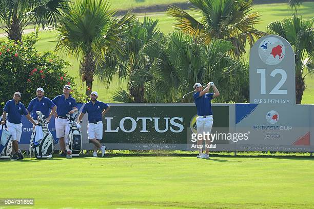 Bernd Wiesberger of Team Europe pictured during the practise round ahead of Eurasia 2016 presented by DRBHICOM at Glenmarie GCC on January 13 2016 in...