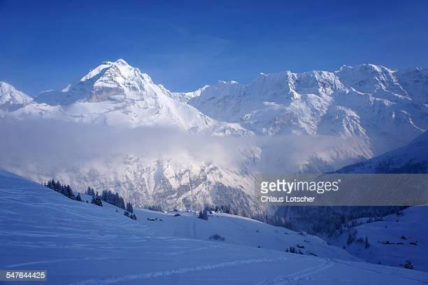 Bernese alps with Mt. Jungfrau, winter