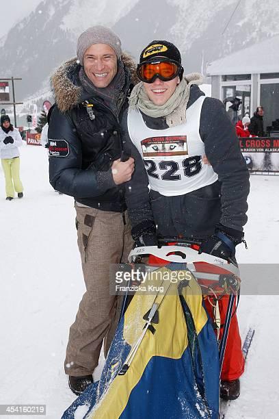 Bernhard Bettermann and Luca Bettermann attend the Sledge Dog Race - Tirol Cross Mountain 2013 on December 07, 2013 in Innsbruck, Austria.