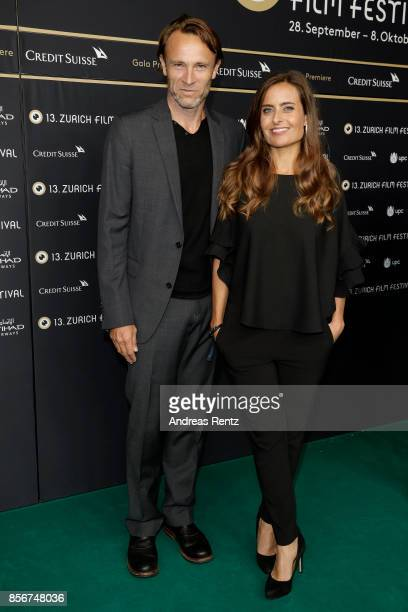 Bernhard Bettermann and Sandra Studer attend the 'All I See Is You' premiere at the 13th Zurich Film Festival on October 2 2017 in Zurich Switzerland...
