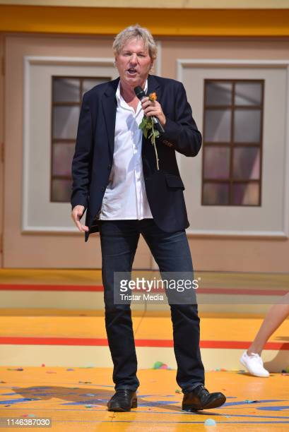 Bernhard Brink performs the 2nd ARD live TV show 'Immer wieder sonntags' at EuropaPark on May 26 2019 in Rust Germany