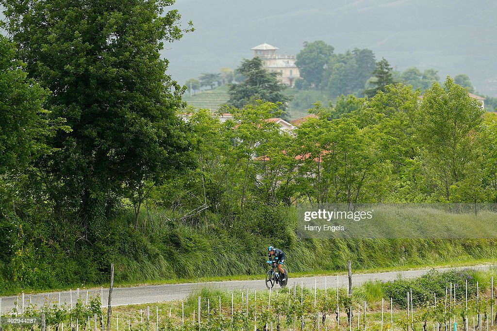 Bernhard Eisel of Austria and Team SKY in action during the twelfth stage of the 2014 Giro d'Italia, a 42km Individual Time Trial stage between Barbarasco and Barolo on May 22, 2014 in Barbarasco, Italy.