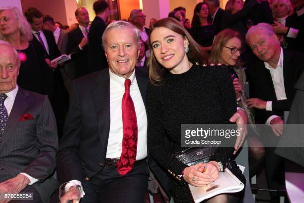 Bernd Frohwitter and his wife Julia Frohwitter during the PIN Party 'Let's party 4 art' at Pinakothek der Moderne on November 18 2017 in Munich...
