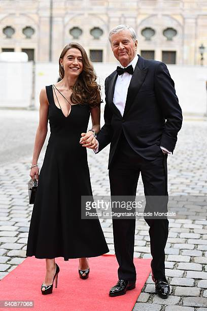Bernhard Frohwitter and wife Julia Frohwitter attend the AMADE Deutschland Charity dinner on June 14 2016 in Munich Germany