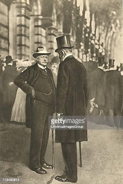 Bernhard Heinrich Karl Martin von Bulow , left, German Foreign Secretary 1897-1909. Responsible for Weltpolitik - colonial expansion....
